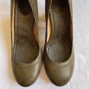 Frye stacked heels